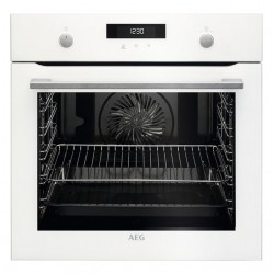 Horno AEG PK535120W SurroundCook, WhiteLine, Pirolítico 2, Multif. 10, M. escam. (Touch), A+, Carril 1 nivel, Cristal Blanco