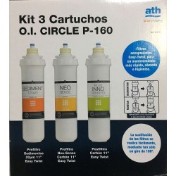 Ath Cartuchos de reemplazo Kit 3 Cart.RO CIRCLE mod. 304424
